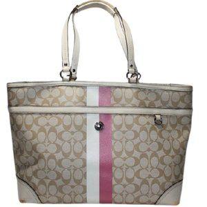 Coach Signature Heritage Stripe Baby Diaper Bag